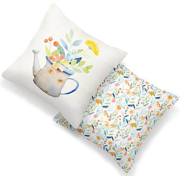 Custom printed cushions UK.