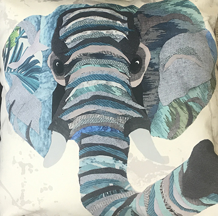 Close up of Digitally Printed Vegan Suede Fabric.