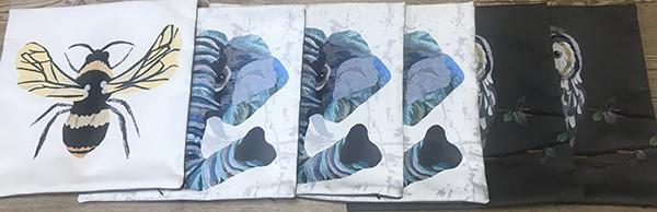 Vegan suede cushion cover printing.